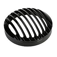 Fuerdi 5 3/4 Black Aluminum Headlight Grill Cover for Harley Sportster XL 883 1200 2004-2012