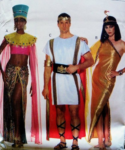 Costumes Halloween Patterns Sewing Butterick (Butterick 3587 Adult Roman, Eygptian, African Costumes Sewing)