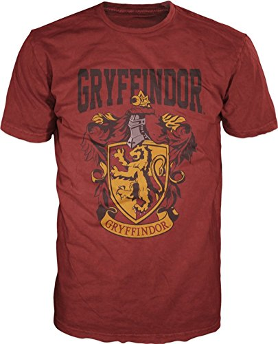 Harry Potter- Gryffindor Shield T-Shirt Size L,red