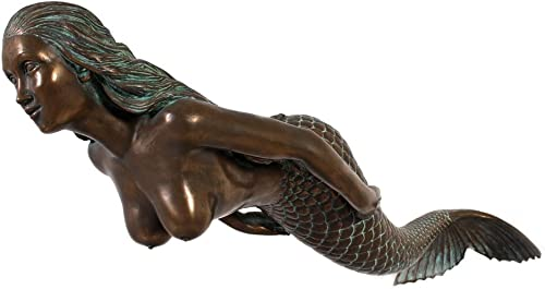 Swimming Mermaid Large Hanging Sculpture