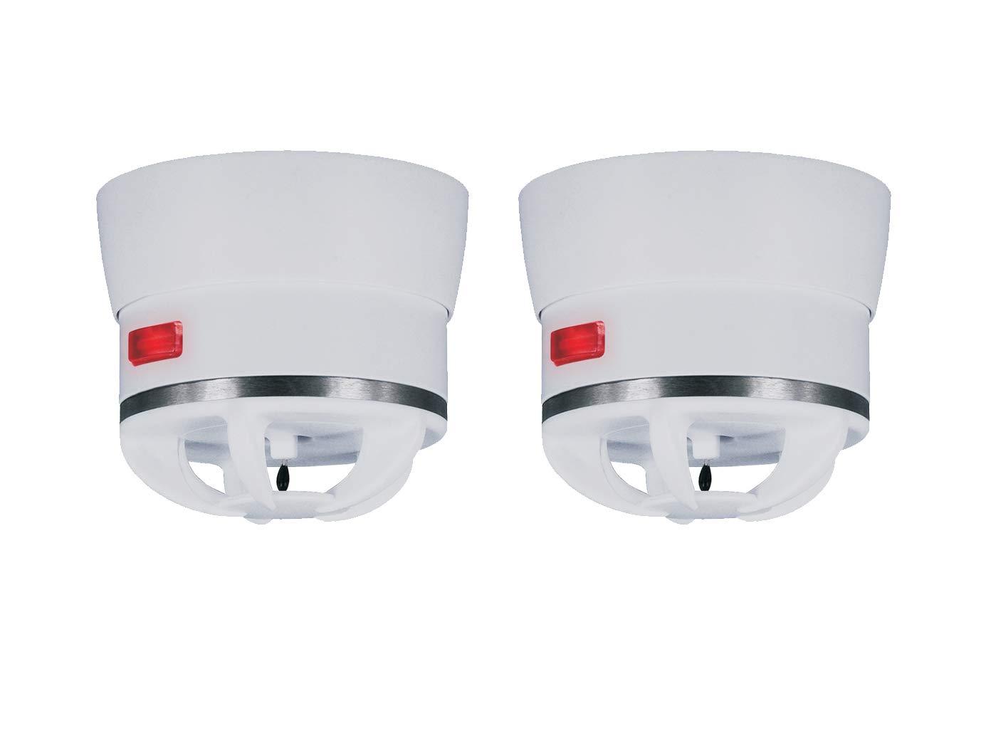 2er Set Extra kleiner Mini Hitzemelder CAVIUS, 85dB-Signal, optimal fü r Kü che oder Badezimmer, 3002-003-2 ELRO
