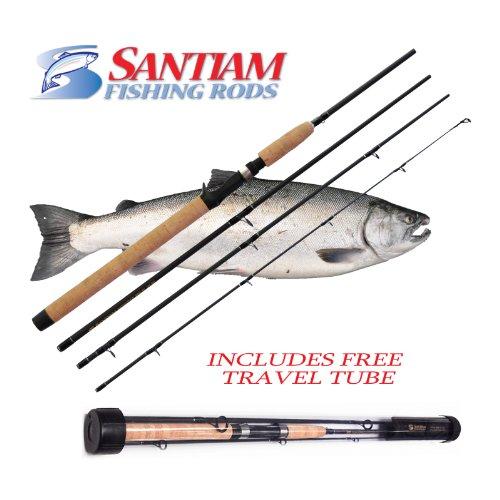 Santiam Fishind Rods Travel Rod 4 Piece 8'6'' 10-20lb MF Graphite Casting Rod