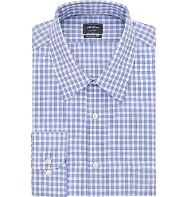 Arrow Gingham Plaid Men's Dress Shirt