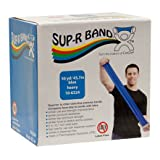 FEI 10-6324 Sup-R Latex Free Exercise Band Roll, Heavy, 50 yd. Length, Blue