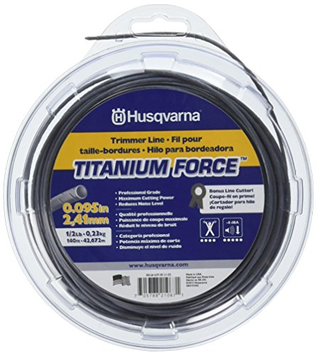Husqvarna 639005102 Titanium Force String Trimmer Line .095-Inch by 1/2-Pound Donut ()