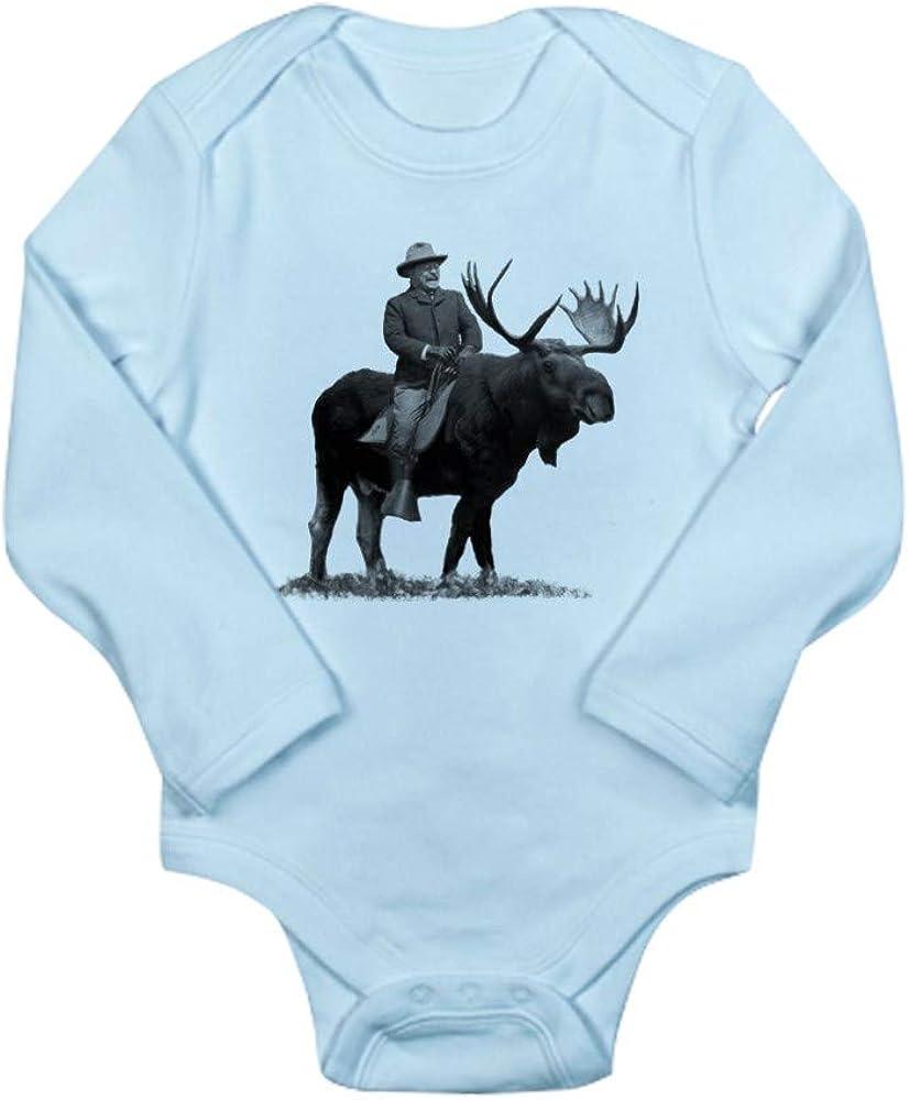 CafePress Daddys Little Cowgirl Cute Long Sleeve Infant Bodysuit Baby Romper Sky Blue