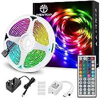 WenTop LED Strip Lights with Remote, 10m Ultra-Long RGB Light Strip, SMD 5050 Multi-Color Strip Light, LED Lights for...