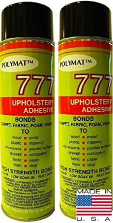 Polymat 2 20oz 12oz Net Cans 777 Glue Spray Adhesive Marine Auto Upholstery Glue Amazon Ca Tools Home Improvement