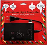 StarDunes Christmas Light Controller, 16 Flash/Fade Functions, 5 Timer Functions (Renewed)