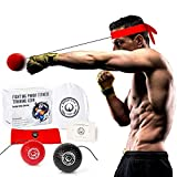 Fighting Panda Boxing Reflex Ball, 2 Difficulty Level Boxing Balls with Headband, Softer Than Tennis Ball, Perfect for Reaction, Agility, Punching Speed, Fight Skill and Hand Eye Coordination Training