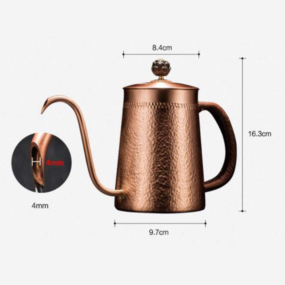 JunHenglr Stainless Steel Coffee Pot, Household Copper Anti-Scalding Handle Coffee Drip Kettle Cup Teapot Container Bronze by JunHenglr (Image #6)