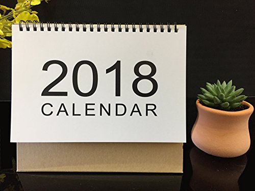2018 Monthly Desk Pad Calendar with Stand, Twin-Wire Binding,Monthly Planners For Office,School,Family (Calendar Desk Today)