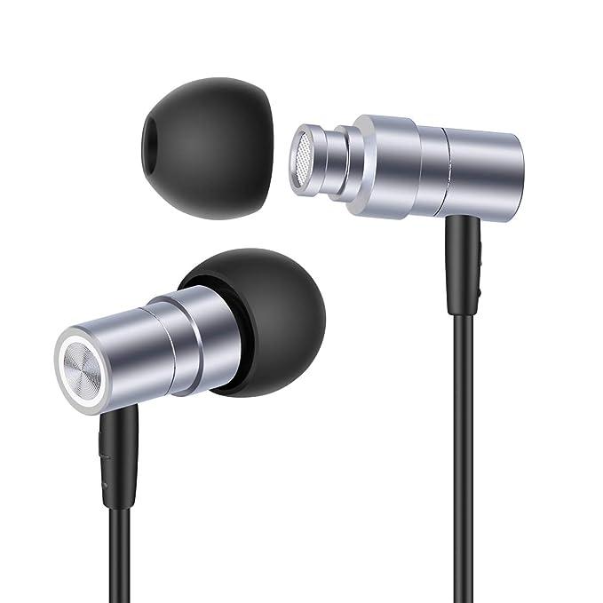 Superme SP1 Mini Auriculares metálicos de Alta resolución Auriculares metálicos Auriculares Auriculares de atenuación de Ruido con micrófono y Control ...