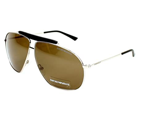 Amazon.com: Emporio Armani 9808 010 Palladium 9808 Aviator ...