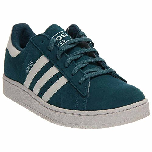 adidas Originals Campus 2 Lifestyle Basketball Fashion Sneaker (Little Kid/Big Kid), Surf Petrol/Running White/Surf Petrol, 7 M US Big Kid (2 Campus Leather Shoe)