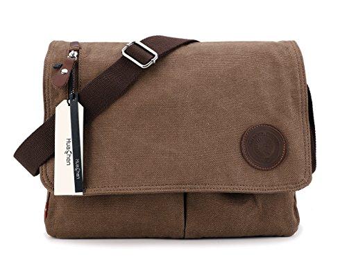 Mens Canvas Messenger Bag Laptop Shoulder Crossbody School Book Bag