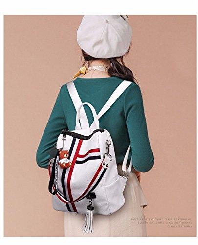 Cuir Sac Dos à Blanc Filles Dos Dos d'école à à Décontractée BMKWSG Sac pour Cartable Femme Sac E6qnq7If