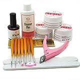Coscelia Base UV Gel Starter Kit with Nail Art Brush Topcoat Cleanser