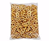 Clevr 300 pc. Brass (Size #4) 1/2'' Grommets & Washers for Hand Pressed Grommet Machine