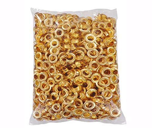 Clevr 300 pc. Brass (Size #4) 1/2'' Grommets & Washers for Hand Pressed Grommet Machine by Clevr
