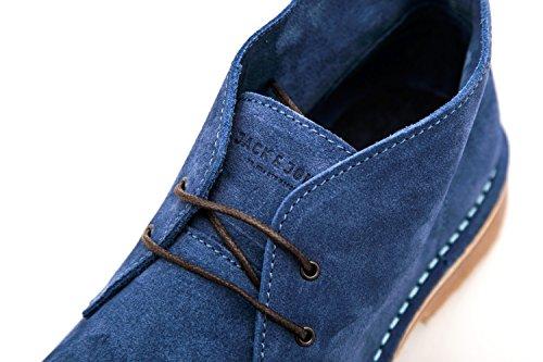 JACK JONES - Herren niedrige stiefel braun gobi suede dark blue 41 dunkelblau