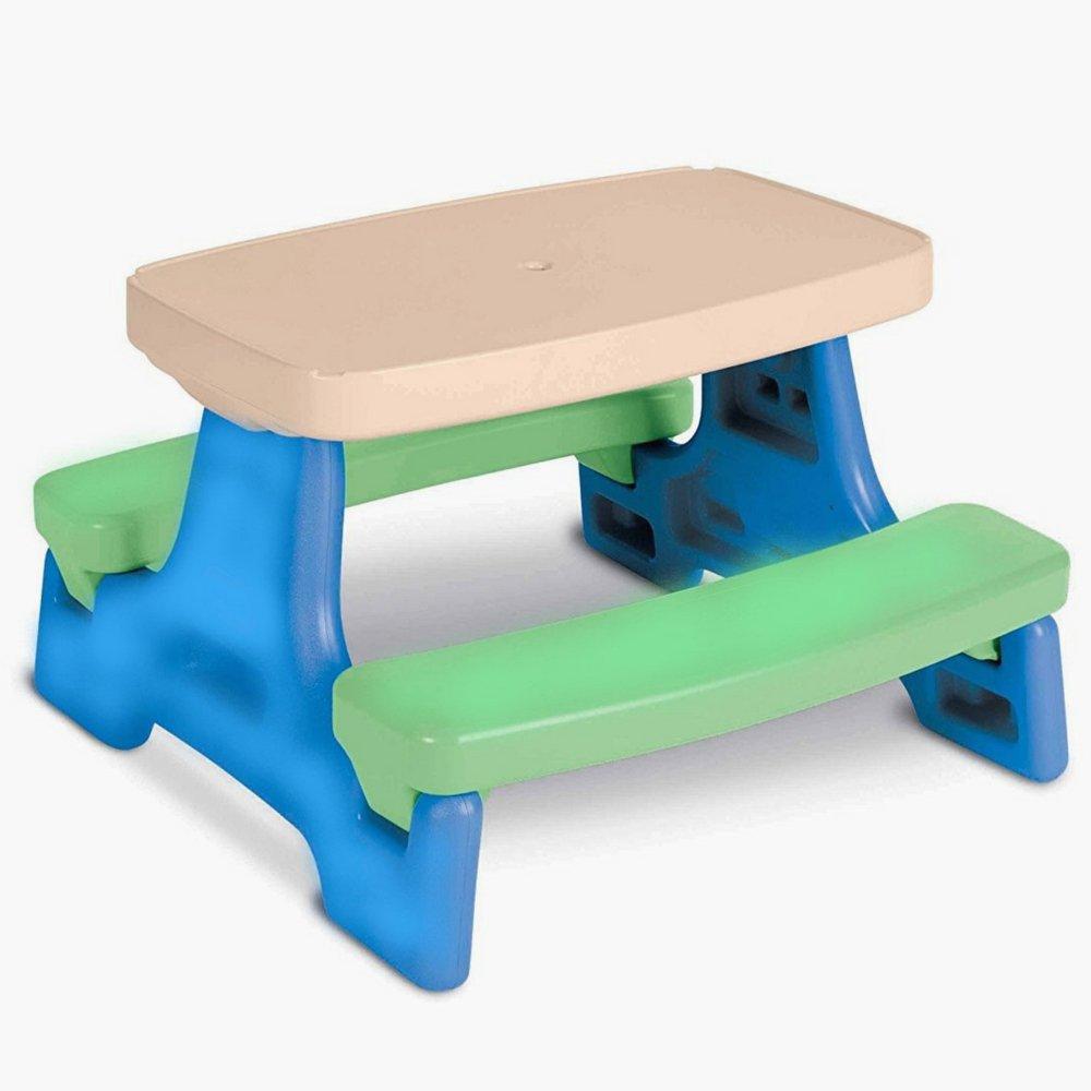 子供用折りたたみ式テーブルセットforピクニックキャンプStudy and Activity子供クラフトプラスチックChildrens Playデスクと電子書籍by nakshop B0721FVL12