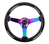 NRG REINFORCED STEERING WHEEL RST-036BSB-MC