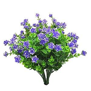 MARJON Flowers Bundles Plastic Artificial Baby Breath Gypsophila Flower for Home Wedding Office Party Decoration/Purple 59