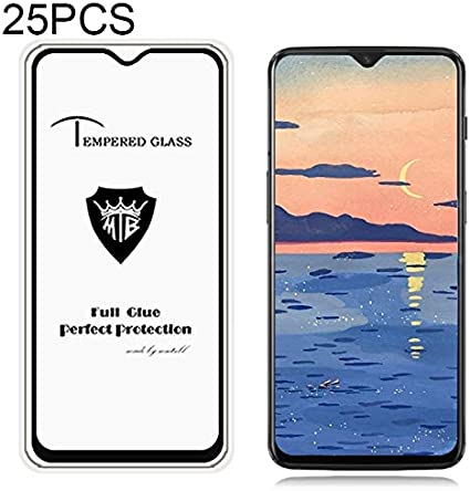 JIANGNIUS Screen Protectors 25 PCS Full Screen Full Glue Anti-Fingerprint Tempered Glass Film for OnePlus 6T Black Color : Black