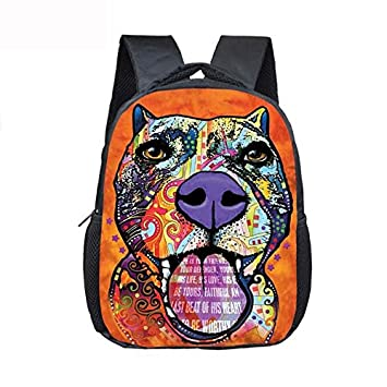 Perro Pit Bull Pitbull Mochilas 12 inch animales escuela bolsas bebé mochila para 3 - 8 años de edad los niños Kids Cute Pets bolsas de jardín de infancia: ...