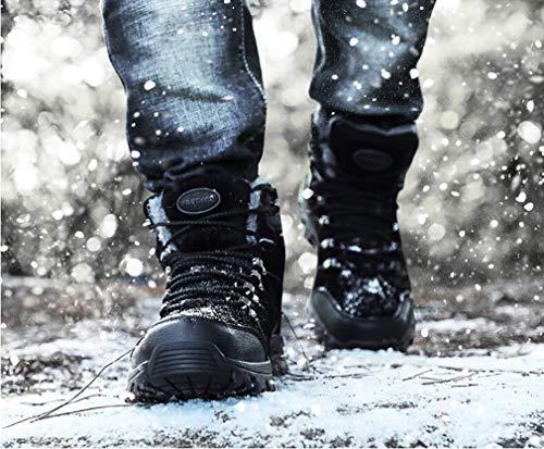 Stivali Casual Trekking Scarpe Impermeabili Caldi Trekking All'aperto Uomo In Neve Arrampicata Cashmere Da Ginnastica Nero Hy Invernali E Avnf4v