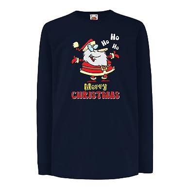 lepni.me Kinder-T-Shirt mit langen Ärmeln Weihnachtsgeschenke ideen  Weihnachten Kleidung (