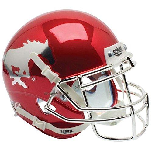SMU Mustangs Chrome Officially Licensed Full Size XP Replica Football Helmet (Mustangs Replica Smu)