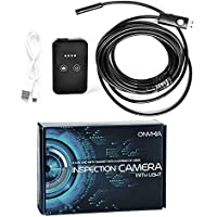 Inspection Camera with Light - Best Endoscope Inspection Camera with Extension Cable - Works Best with iPhone App - Ideal Waterproof Smartphone Snake Inspection Camera