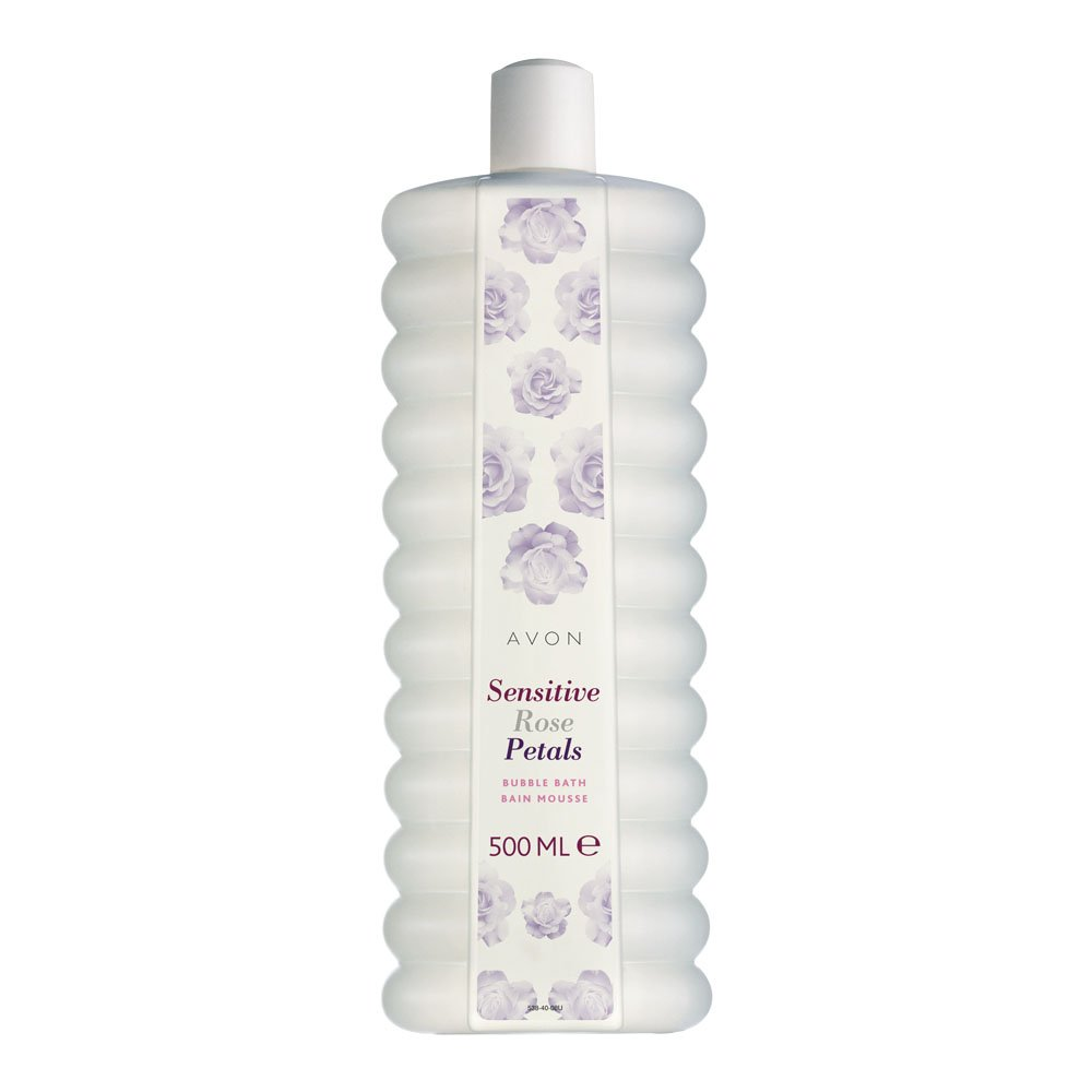 Avon Bubble Bath 500ml Sensitive Rose Petals