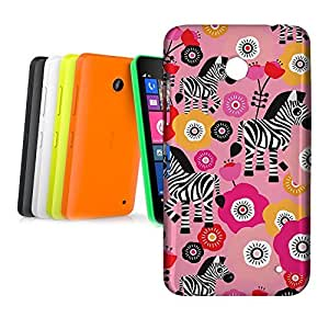 Phone Case For Nokia Lumia 630 - Zebra Blossoms Pink Hard Cover