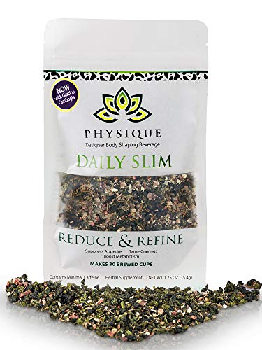 Daily Slim by Physique Tea | Natural Slimming & Weight Management Blend for Appetite Suppression Weight Loss and Increased Energy with Garcinia Cambogia