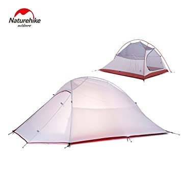 2 Person Tent 20D Silicone Fabric Tent Double-layer C&ing Tent Lightweight 4 seasons Tent  sc 1 st  Amazon.com & Amazon.com : 2 Person Tent 20D Silicone Fabric Tent Double-layer ...