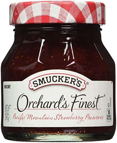 - Smucker's  Orchard's Finest  Pacific Mountain Strawberry Preserves, 12-Ounce (Pack of 6)