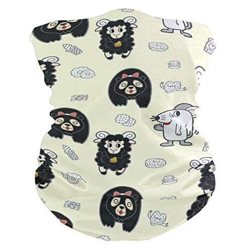 Pingshoes Mouse Bear Sheep Headband Womens Bandana Multifunctional Mens Balaclava, Neck Warmer, Face Mask, Collars Hatliner