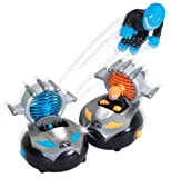 Kid Galaxy Remote Control Bump n Chuck Bumper Cars. RC Toy Game. 2 Radio Control Vehicles