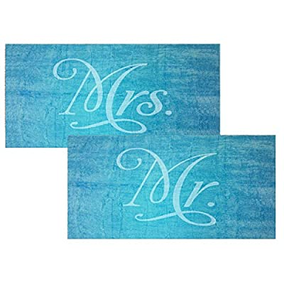 Classy Bride Mr. and Mrs. Beach Towel Set - Turquoise