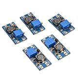 XCSOURCE 5pcs MT3608 DC-DC Step Up Power Apply Booster Module Max 2A 5V-28V Adjustable Efficient for Arduino Board TE686