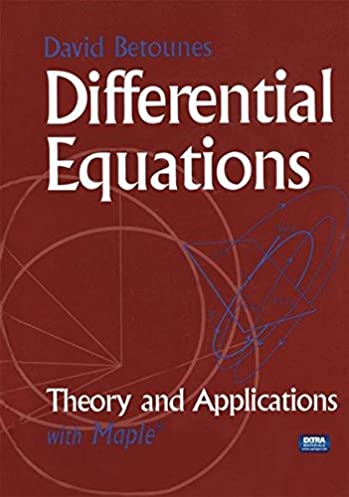 buy differential equations theory and applications with maple book rh amazon in Differential Equations Meme Linear Algebra