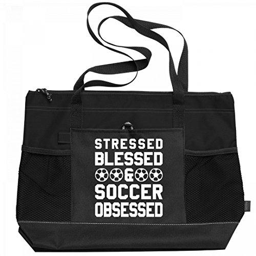 Blessed Soccer Mom Custom Bag: Gemline Select Zippered Tote Bag