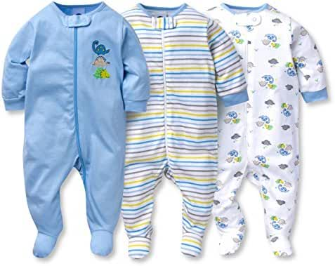 Gerber Onesies Baby Boy Sleep N' Play Sleepers 3 Pack