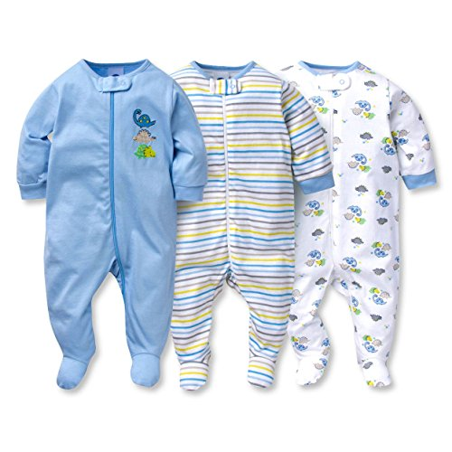b56f96abd6 Gerber Sleep N  Play 6-9 Months Baby Boys Dinosaur Outfits 3 Pack - Buy  Online in Oman.