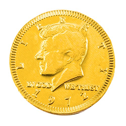 Gold Colored Bulk Dutch Milk Chocolate Coins, 5 Pounds, 420 Coins, 1.5