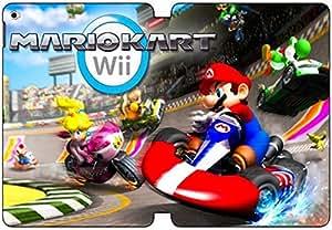 [PU del tirón del cuero] iPad Air 2 funda, iPad Air 2 Case, [Tema: Mario Kart Wii] - AK1071