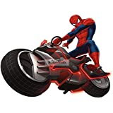 "9"" Ultimate Spiderman Motorcycle Spider Cycle Bike Man Marvel Comics Removable Peel Self Stick Adhesive Vinyl Decorative Wall Decal Sticker Art Kids Room Home Decor Boys Children 9x7 Inch Tall"